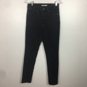 Levi's 721 High Rise Skinny Jeans In Black